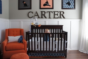 Nursery with wainscotting